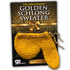 Golden Schlong Sweater - Knitted Willy Warmer - Gag Gifts for Men - Funny Adult