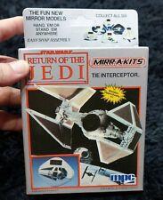 STAR WARS RETURN OF THE JEDI  TIE INTERCEPTOR  MIRROR MODELS KIT 1984 VINTAGE