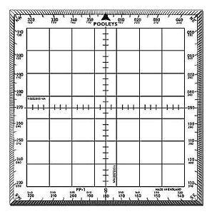Pooleys PP1 Navigation Protractor
