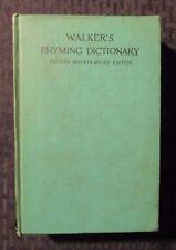 1936 WALKER'S RHYMING DICTIONARY Rev. Enlarged Ed. HC VG+ Library Copy