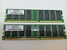 Lot Of 2 Dell Optiplex Nanya Nt256D64S88Aag-7K - 256Mb Ddr-266Mhz Pc Memory 116