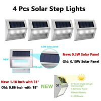 4Pcs 6 LED Solar Power Marker Driveway Pathway Dock Path Ground Road Step Light