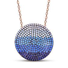 AQILA Damen Halskette Kette Meeres Horizont Zirkonia 925 Silber rosegold 45 cm