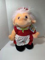 """Trolio Trolls Christmas Mrs Santa Claus Troll Plush Toy Vintage 1992 16"""""""