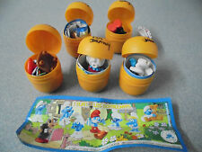 Kinder Surprise toys Smurfs 2010 Les Schtoumpfs UN series Mint with papers