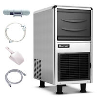Stainless Steel Commercial Ice Maker 110lbs/24h Freestanding Restaurant Bar New