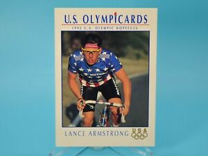 1992 Impel USA Olympics LANCE ARMSTRONG #32 Rookie Card Cycling Olympicards