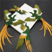 Phoenix Bird Iron on Embroidery lace Cloth Paste Fabric Applique Patch DIY FT