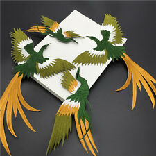 1set Phoenix Bird Iron on Embroidery lace Cloth Paste Fabric Applique Patch TH