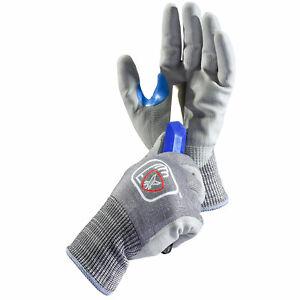SAFEYEAR Safety Work Gloves Machine Operation Construction Cut Resistant Grade 5