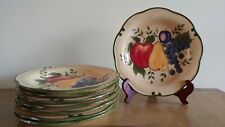 "SET OF 8 DINNER PLATES BY HOME TRENDS IN THE ""GRENADA"" PATTERN"