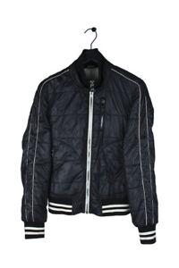 Original Dolce&Gabbana Men Light Bomber Zipped Navy Jacket size 48IT (M)
