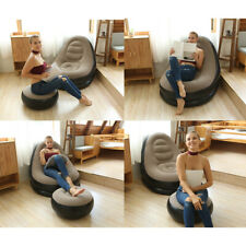 PVC Inflatable Lazy Sofas Chairs Lounger Seat Bean Bag Living room Flocking Sofa