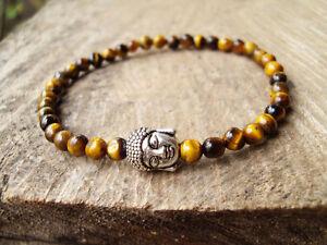 Buddha bracelets,Tiger eye bracelets,Brown bracelets,Men bracelets,4mm stone
