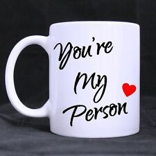 Details about  11oz Cute Funny You're My Person Ceramic Coffee Mug Tea Cup Twin