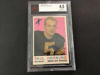 1961 Topps #82 Paul Hornung VGEX Cert Number 0010002223 Green Bay Packers