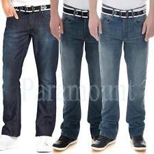 Crosshatch Cotton Regular Mid Rise Jeans for Men