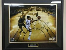 "Steph Curry Signed 16x20"" Metallic Photo, Steiner HoloCOA, Framed"