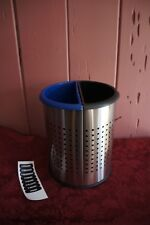 NEW IN BOX: PRECISION SERIES INN ROOM RECYCLER TRASH CAN: BLUE/BLACK