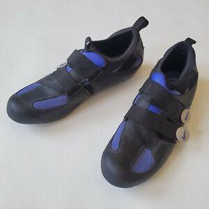 NIKE Cycling Bike Shoes blue and black mens 10.5 bicycling