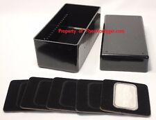 1 Air-tite Storage Box 20 Coin Capsule Display Card Holder BLACK 1oz Silver BAR