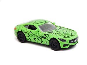 "Mercedes Benz AMG GT Green Majorette 232E 1:64 3"" inch Toy Car 2017 Rare"