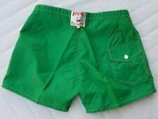 Vtg 80s Birdwell Beach Britches Board Shorts Size 32-38 Swimming Trunks Green