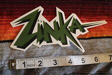 New listing Zinka Neon 80's Surf Wax Stussy Surfboards Rare Vintage Surfing Decal Sticker