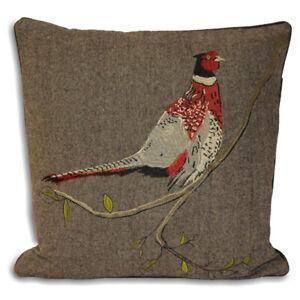 Paoletti Hunter Pheasant Herringbone Weave Cushion Cover, Brown, 45 x 45 Cm