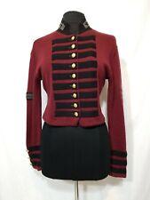 Claude Barthelemy Paris Military Style Sweater Jacket Size Medium