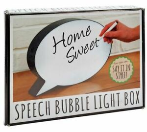 Speech Bubble Light Box LED Light-Up Whiteboard Message Note Sign Board Display