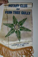 Nice Fern Tree Gully Victoria Australia Rotary Club International Flag Banner