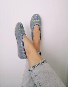 Wollen Felt Ballerina Slippers