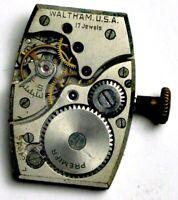 WALTHAM TONNEAU WRIST WATCH MOVEMENT BB46