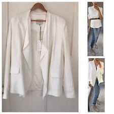French Fashion Brand IRO Paris Ecru White Raw Edge Blazer Sz M