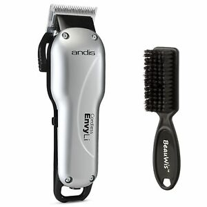Andis Cordless Envy Li Adjustable Blade Clipper with BeauWis Blade Brush