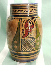 Vintage Moroccan Ceramic vase hand painted SAFI.