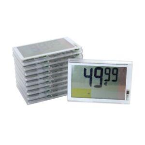 10x elektronische digitale LCD Preisschilder Etiketten Pricer 18619-00 120x85 mm