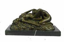 "Lesbian Lovers Erotic Bronze Sculpture by JM Lambeaux 5"" x 8"""