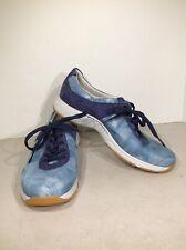Dansko Women's Size 7.5-8/EU 38 Blue Lace Up Walking Sneakers SD-106*