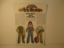 Vintage Betsy McCall Visits A Cider Mill Paper Doll Page 1979 Issue Uncut