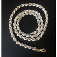 Italian Sterling SilverRope Chain , with Lobster Clasp,Nontarnishing. 24 inch