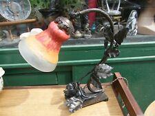 Lamp Made New Art Daum Nancy Forged Iron Signed F Pack Jugendstil