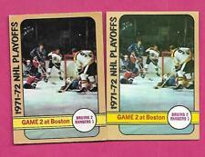 1972-73 OPC / TOPPS  RANGERS + BRUINS PLAYOFFS   CARD  (INV# C2613)