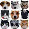 Children Cat/dog Face Zipper Case Coin Kids Purse Wallet Makeup Bag