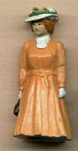 VICTORIAN LADY O On30 Scale White Metal Pewter Figure Unpainted FG3034