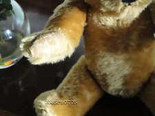 Antique JK Farnell 1960s Golden Mohair Bear Squeaker