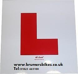 L-Plate L Plate Learner Plate Stick-On Car Moped 50cc 125 NEW Adhesive