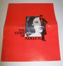 THE STORY OF ADELE H. PRESSBOOK FRANCOIS TRUFFAUT ISABELLE ADJANI UNCUT (1975)