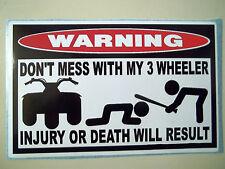 FUNNY ATC WARNING QUAD BIKE ATV MUD SLUT BOG FAIRING FENDER STICKER DECAL 670